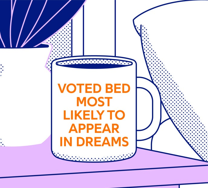 Voted bed most likely to Apprear in Dreams - illustration