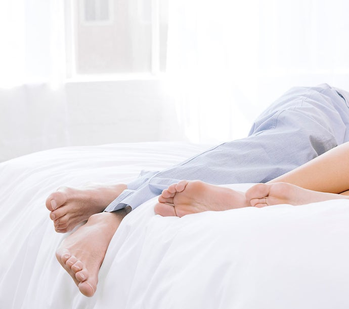 Couple sleeping in the best bed for couples - Nectar Sleep
