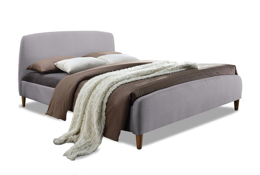 comfortablegrey fabric bed frame