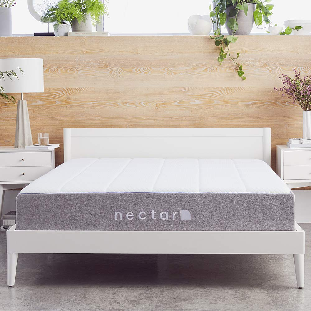 side view of nectar King memory foam mattress